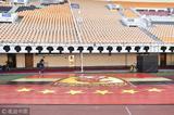 高清:恒大冲中超七冠 天河庆典设施搭建筹备