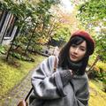 张子萱晒照 戴贝雷帽少女心爆棚