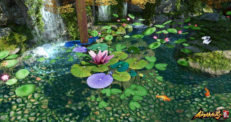 上善若水任方圆《仙侠世界2》里的在水一方