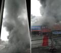 仓山区一烤鱼店今早发生火灾 店老板:伴有巨响