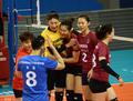 上海女排备战气氛融洽 金软景与队友打成一片