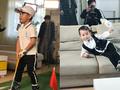 组图:王皓儿子高球宣传照 手抱吉祥物谁更萌