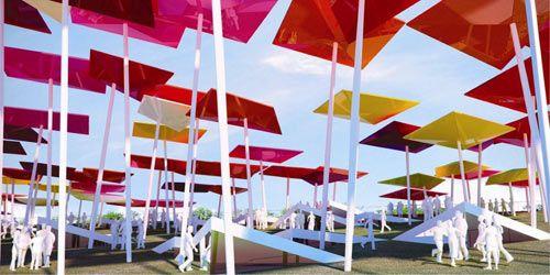 墨西哥馆:藏在广场下 头顶风筝林
