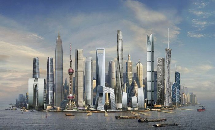 上海中心效果图 未来的中国第一高楼