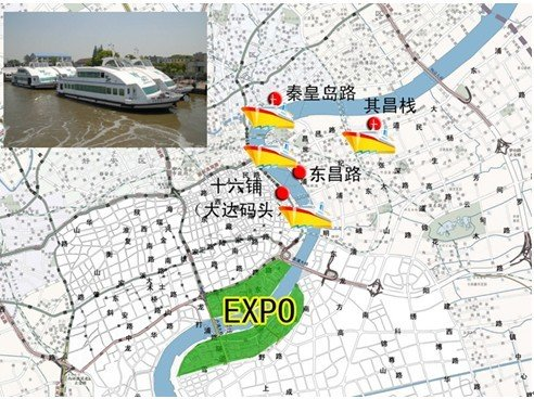 世博园设4扇水门 世博水陆交通实现配套(图)