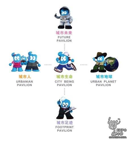 世博会主题馆卡通形象揭晓 五个海宝正式亮相