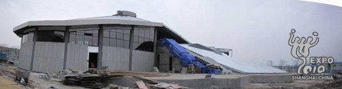 世博会委内瑞拉馆结构封顶 展示民族建筑特色
