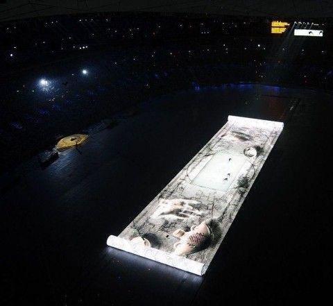 中国馆展现最大看点 奥运卷轴变身世博上河图