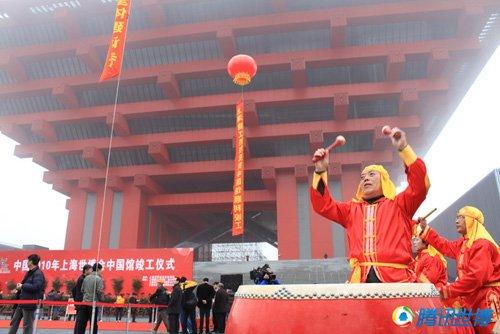 上海世博会中国馆竣工 建筑面积2.7万平米
