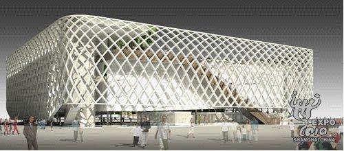 上海世博会法国馆首次亮灯 喜迎虎年春节(图)