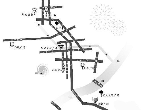 元宵节杭州市赏灯地图 十里湖墅火树银花