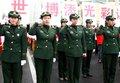 图文:上海边防女警宣誓 为世博盛会添光彩