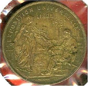 1905比利时列日世博会奖牌与宣传画
