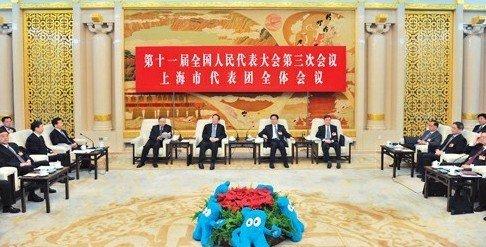 """上海代表团畅言""""当好东道主,全力办世博"""""""