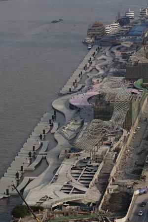 新外滩未来滨江景观带将绵延数十里