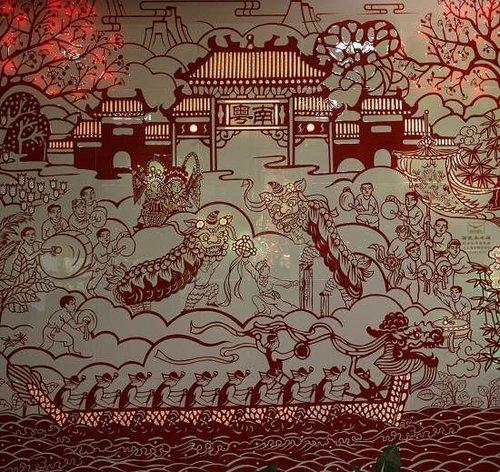 世博会广东巨幅瓷板画深圳亮相 展南粤风情