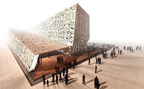 """波兰馆呈现剪纸魅力 诠释""""人创造城市""""(图)"""