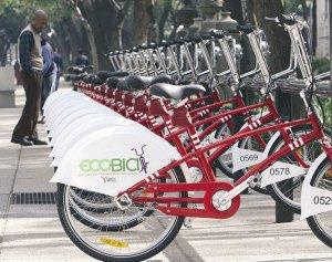 墨西哥城交通严重拥堵 想用自行车改善环境