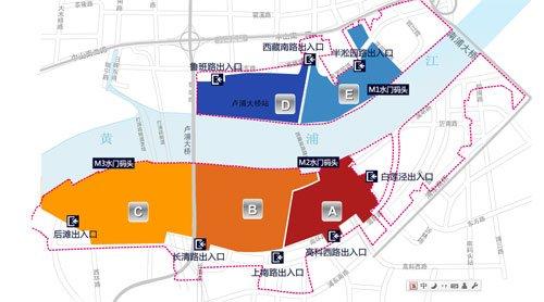 世博园区设13个出入口和五百余个检查闸口