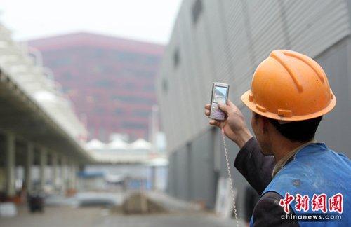 图文:园区建设者用手机记录下的世博瞬间