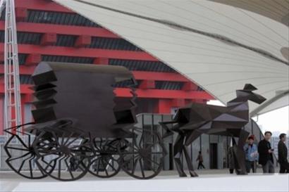 世博园雕塑项目顺利完工 76件雕塑为世博添彩