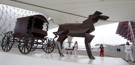 表达美好想象送祝福 百余件世博园区雕塑落成