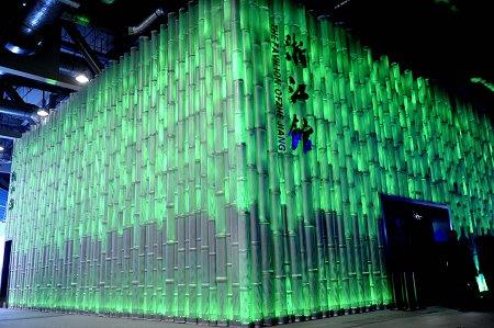 浙江馆搭建完成 展示直径8米的青瓷莲型巨碗