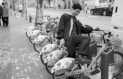 上海自行车租赁进入景区、中心城区 生意冷清
