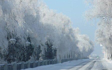 吉林冬去春来 雾凇别样浓