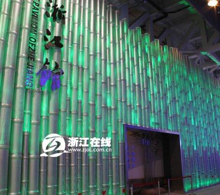 1600盏灯点亮世博浙江馆 10秒幻化6万种颜色
