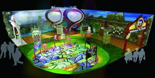 海地馆入口现心形涂鸦 小国将展示最美丽岛屿