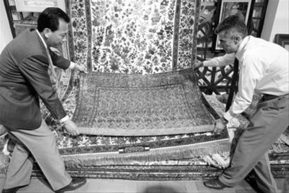伊朗馆主打手工地毯 古董地毯价值超700万元