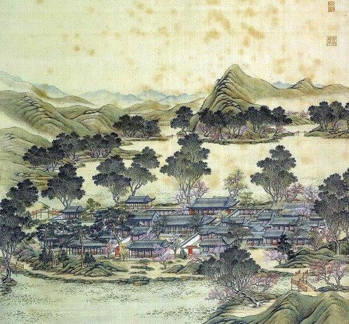 """中国馆屋顶花园浓缩""""九州清晏""""瑰丽山河"""