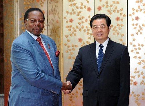 胡锦涛会见马拉维总统穆塔里卡