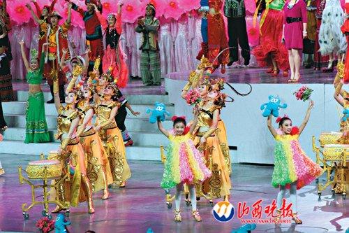世博开幕式惟一地区团体 32个吕梁姑娘舞翩跹