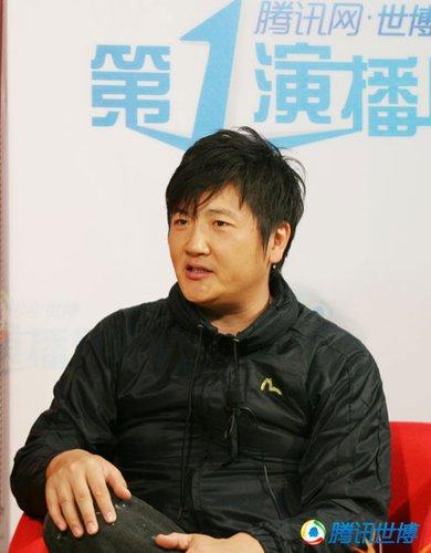 孙楠做客腾讯谈世博 最爱中国馆清明上河图