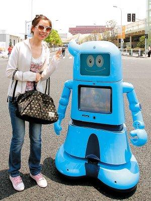 """世博中外机器人""""竞技"""" 有望十年内进入家庭"""