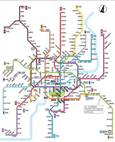上海地铁南北线路多东西线路少 2号线已超负荷图片