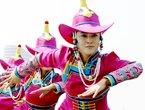 高清:民族风情表演开启世博内蒙古活动周