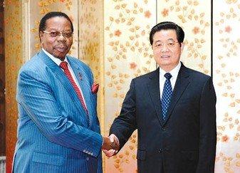 胡锦涛会见出席世博会开幕式的各国领导人