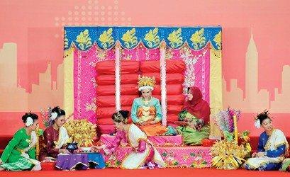 文莱馆国家馆日展传统婚礼 中国外交部长出席