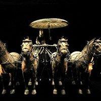 秦陵铜车马穿越千年历史