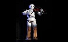 可拉小提琴的机器人