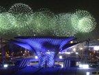 组图:6000盏LED灯黄浦江上顺流而下