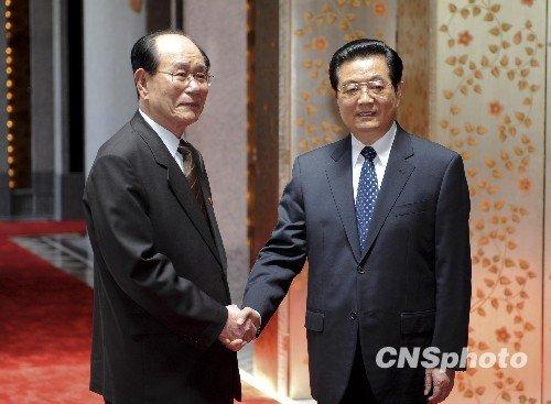 胡锦涛会见出席上海世博会开幕式的外国领导人