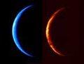 组图:日本探测器拍到月牙形彩色地球照片