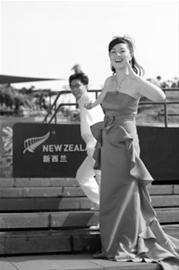 新西兰馆特批中国恋人拍婚纱照