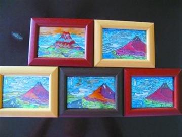 世博奶奶参加环保大赛 铝片画重现富士山美景