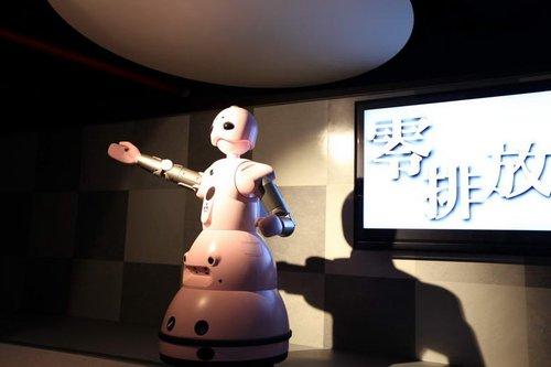 前方直击:日本馆开幕 机器人演奏《茉莉花》