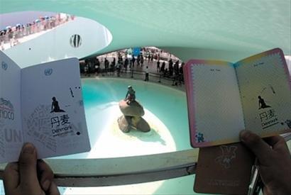 为小美人鱼庆生 游客与工作人员齐唱生日歌